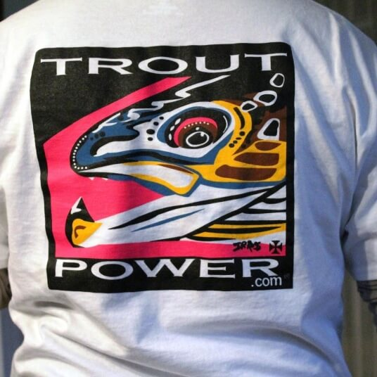 White Trout Power t shirt