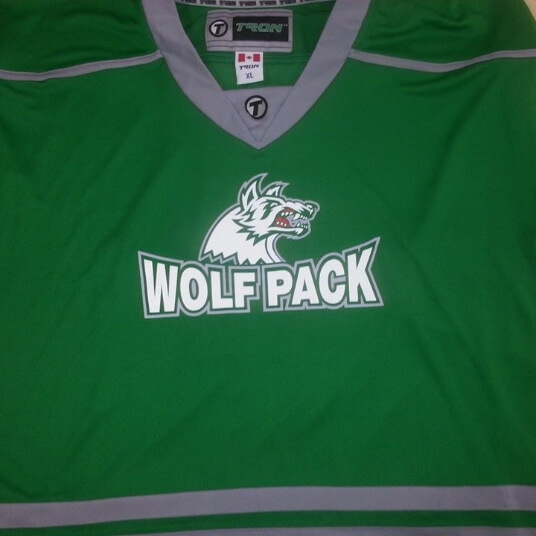 green wolfpack hockey sweater